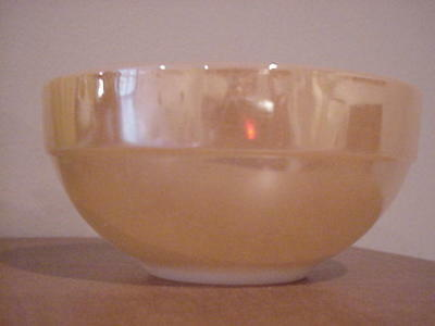 "Fire King Peach Lustre Mixing Serving Bowl 6"" x 3"" Band Top # 18"