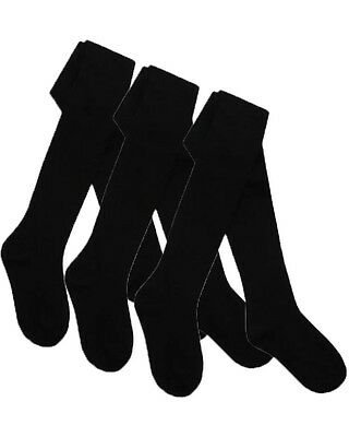 Girls Brand New 7-8 Years Olds Black Tights (3 Pairs) Perfect For School