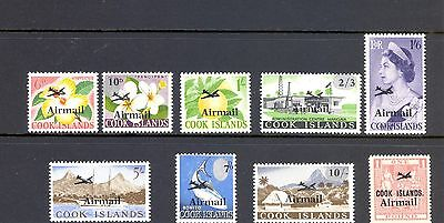 Cook Island Sg 185-93   1966 Airmail  Set Of 9 Mnh
