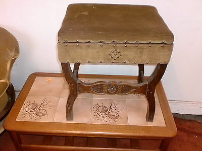 Antique Work Box Stool Oak 1880 C/c £39 Buy Now Colection Only