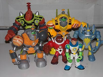 Lot of 6 - 2007 Fisher Price Mattel Planet Heroes Slash the Red Giant & MORE