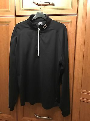 Footjoy Chillout Cover Up Black Top In Large