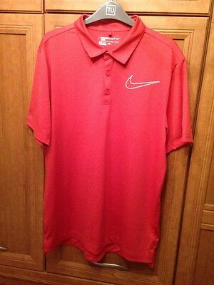 Nike Golf Sport Dri-fit Polo Shirt - Red - Large