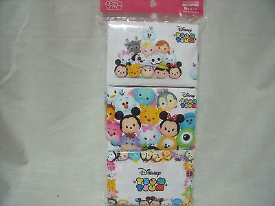Disney Tsum Tsum Anime Print Japan Pocket Tissue Kids School 9 Pack !!