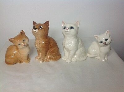 4 Beswick Ginger and White Cats