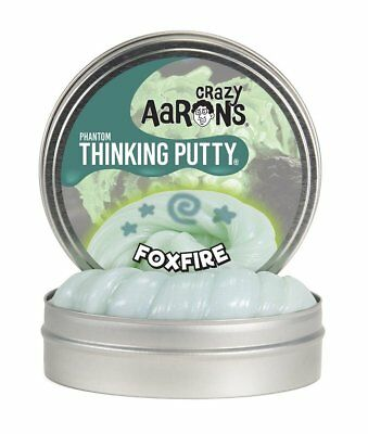 Phantoms FOXFIRE Green Glow in Dark UV Crazy Aarons Thinking PUTTY Fidget Toy