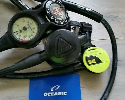 Scuba Regulator Oceanic Delta with Slimline Octo and 3 gague console Nice!