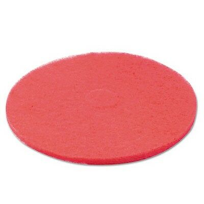 "Boardwalk Standard Floor Pads, 20"" dia, Red, 5/Carton BWK4020RED New"