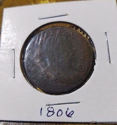 1806 1c Draped Bust Large Cent Rare Penny