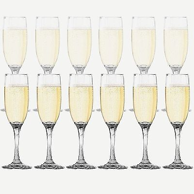 Dailyware Toasting Flutes (Set of 12) Wedding Party Champagne Glasses Stemware