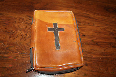 Vtg The Promise Line Leather Bible Case  Cover