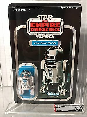 Star Wars R2 D2 Afa 80+ Unpunched Clear Bubble 41 Kenner Vintage 1980 1977 Esb