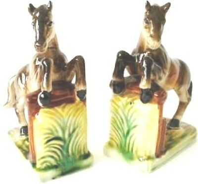 Pair Of Vintage Horse Bookends .