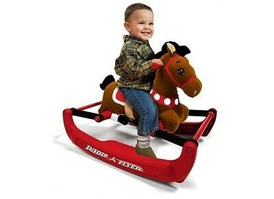 Radio Flyer Soft Rock and Bounce Pony Horse Boys Girls Kids Toy with Sound New