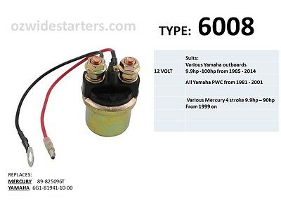 Starter solenoid suit all Yamaha PWC from 1981 - 2001