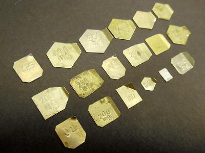 18 Tiny Vintage Apothecary Scale Weights (Set C)