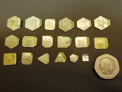 18 Tiny Vintage Apothecary Scale Weights (Set F)