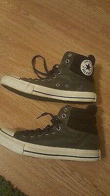 Converse All Star Hi Leather Trainers Top Lace Up Size: UK 7 / EU 40