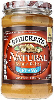 Natural Creamy Peanut Butter Glass Jar, SMUCKERS, 26 oz 1 pack