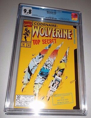 Wolverine #50 (Die-Cut cover) CGC 9.8  NM/MT  Brand New Case White 1998 series