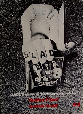 SLADE 1973 Poster Ad SLAYED?