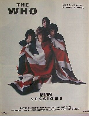 THE WHO 2000 Poster Ad BBC SESSIONS