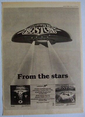 BOSTON 1979 Poster Ad UK CONCERT TOUR don't look back
