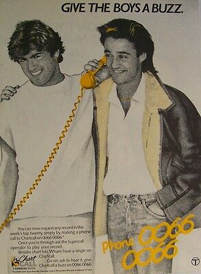 WHAM GEORGE MICHAEL '80s Advert chart call