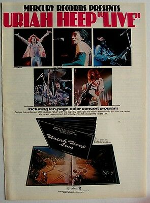 URIAH HEEP 1973 Poster Ad LIVE