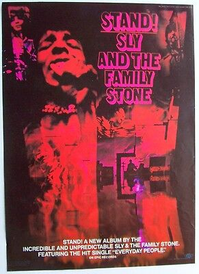 SLY AND THE FAMILY STONE 1969 Poster Ad STAND