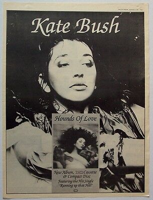 KATE BUSH 1985 Poster Ad HOUNDS OF LOVE