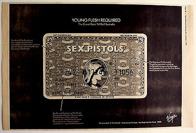 SEX PISTOLS 1979 Poster Ad THE GREAT ROCK 'N' ROLL SWINDLE