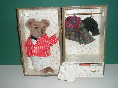 vintage collectable teddy bear 'Cheeky Reggie' and accessories
