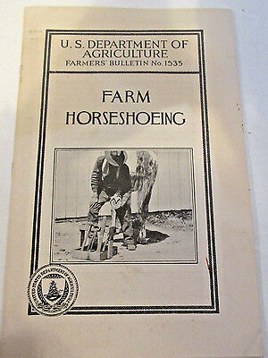 July 1927, FARM HORSESHOEING, US Dept of Agriculture Farmers' Bulletin #1535