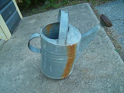 Vintage Galvanized Watering Can Farmhouse Garden LEAKS at Bottom