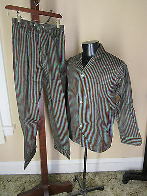 50s New DEADSTOCK  Enro Faultless PAJAMAS PANTS & SHIRT sz S/M