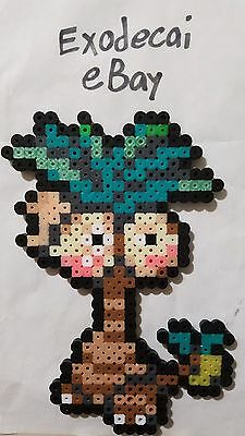 Alola Exeggutor Pokemon Bead Sprite Perler Art Menu Icon