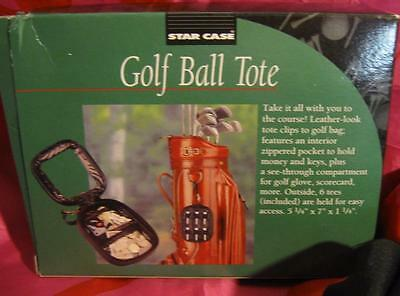 Zippered Golf Tote Black~ E & B For Balls And Tees Etc. New In Box  Free Ship