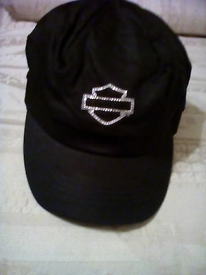 New women black harley davidson cap sz M