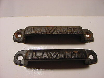 Set Of 2 Vintage L.A. V/H N. T. Printer Drawer Pulls