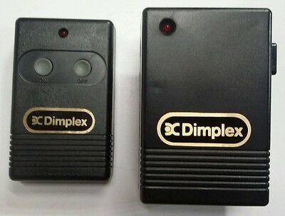 Dimplex Fireplace Wireless Remote Control & Plug In Receiver Model 47-1001 R/t 5