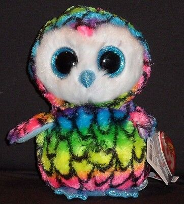 """TY BEANIE BOOS BOO'S - ARIA the 6"""" OWL - CLAIRE'S EXCLUSIVE - MINT with MINT TAG"""