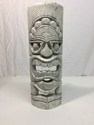 "Tiki Mask Carved Wooden Wall Hanging Wall Decor (8""x19.5"")"