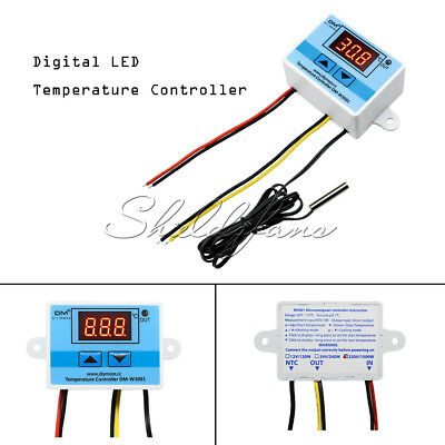 1pc 220V Digital LED Temperature Controller 10A Thermostat Control Switch Probe