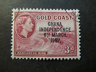 1957 - Ghana - Surcharged In Black - Scott 8 A14 3P