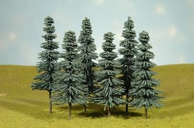 """Bachmann 32212 8""""-10"""" Blue Spruce Trees (3 trees) Good for O Scale"""