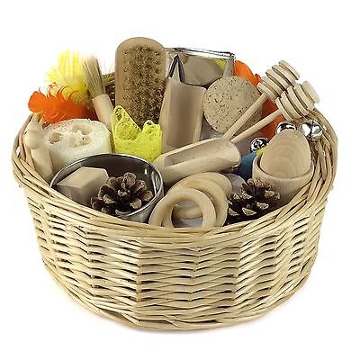 Baby Sensory Treasure Basket - Montessori Educational Wooden Toy - EYFS
