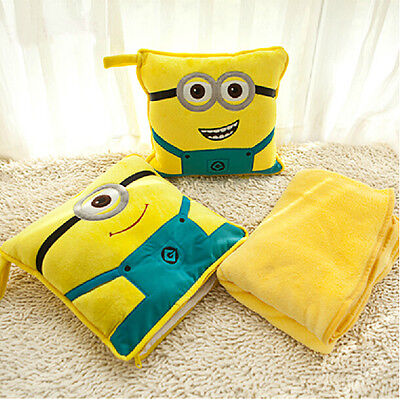 Despicable Me Minion Home Sofa Chair Car Throw Cushion Pillow Cover Case Support