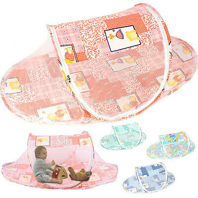 New Portable Foldable Baby Kid Bed Crib Pop Up Canopy Mosquito Net Play Tent Hut