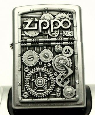 Zippo Lighter - GEARS AND COGS - Heavy plate detailed design ZIPPOS watch ZIPO